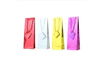Tallon Assorted Holographic Bottle Bags (Pack Of 12) (Red/Silver/Gold/Purple)