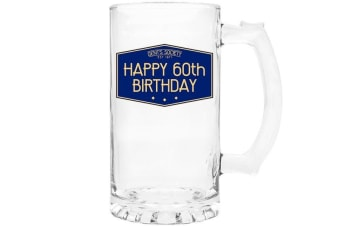 Lesser & Pavey Gents Society Happy 60th Tankard (Blue) (One Size)