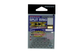 18 Pack of Size 4 Decoy Extra Strong Stainless Steel Split Rings - 80lb - Japanese Made