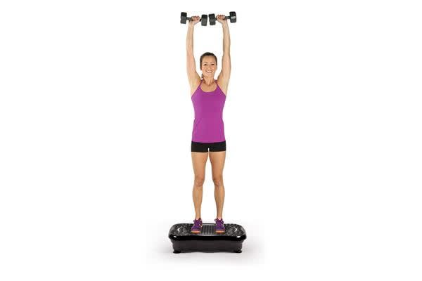 Vibration Machine Fitness Plate with Bluetooth and Massage Function Pink Colour
