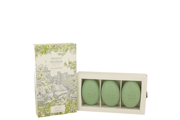 Woods of Windsor Lily Of The Valley (woods Of Windsor) Three Luxury Soaps 62ml/2.1oz