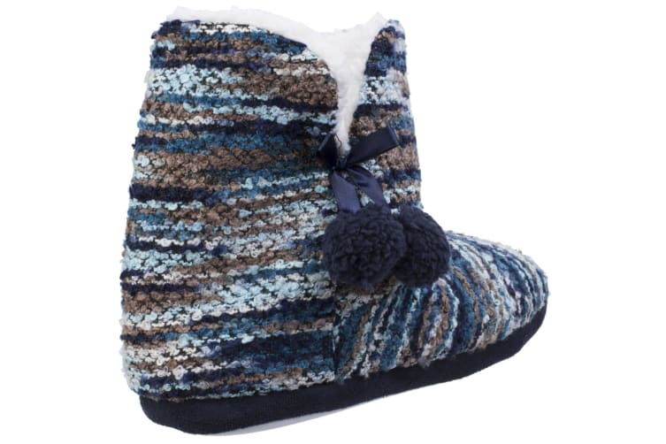Divaz Womens/Ladies Vienna Knitted Bootsie Slippers (Blue) (Small)