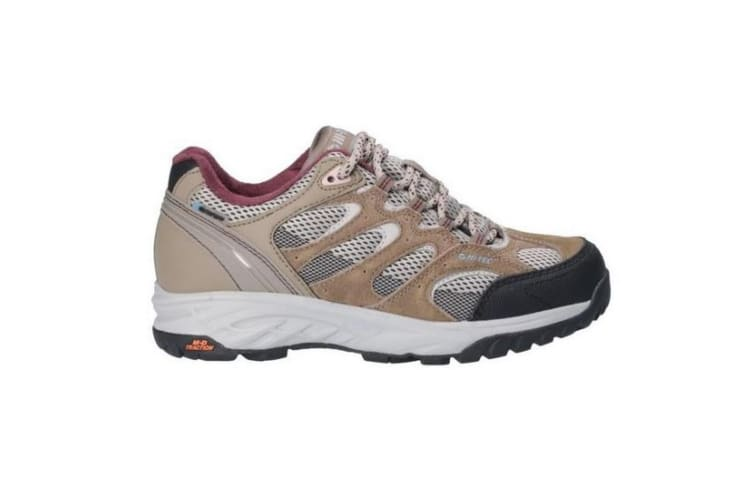 Hi-Tec Womens/Ladies Wild-Fire Low I Waterproof Walking Shoes (Taupe/Warm Grey/Grape Wine) (8 UK)
