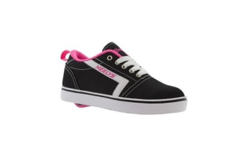 Heelys GR8 Tennis Kid Wheel Skate Roller Shoes Sneaker Toddler Shoe Black Pink US8