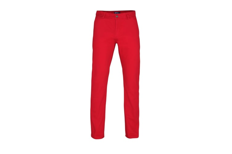 Asquith & Fox Mens Classic Casual Chinos/Trousers (Cherry Red) (XLR)