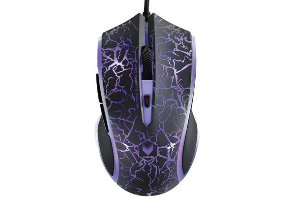 RAPOO V20S LED Optical Gaming Mouse Lighting Black - Upto3000dpi 16m Colour 5 Programmable Buttons
