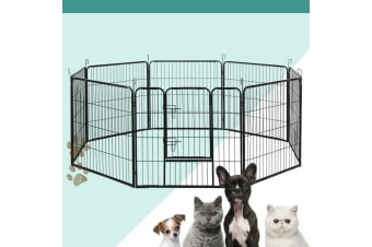 8 Panel Pet Dog Playpen Puppy Exercise Cage Enclosure Fence Play Pen XL