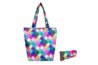 Sachi 40cm Insulated Thermal Cooler Shopping Bag Storage Market Tote Harlequin