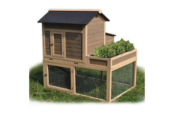 NEATAPET Rabbit Hutch Chicken Coop Guinea Pig Cage Ferret Planter Box Large
