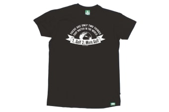 Out Of Bounds Golf Tee - There Are Only Two Things That Matter Golf - (Large Black Mens T Shirt)