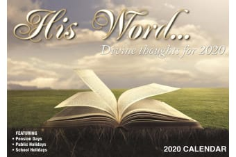 His Word Divine Thoughts - 2020 Rectangle Wall Calendar 16 Months by Bartel (C)