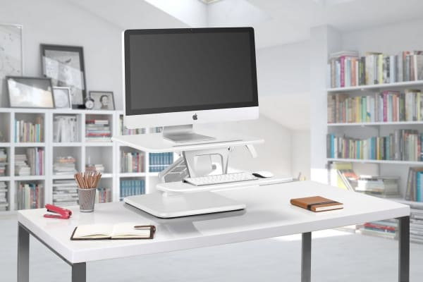 Kogan Sit to Stand Desk Riser (Compact, White)