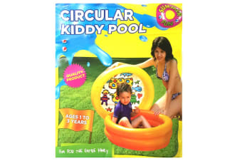 Aquamania 46L 76cm Round Inflatable Baby/Kids/Toddler Pool Fun Toy 1-3y Yellow