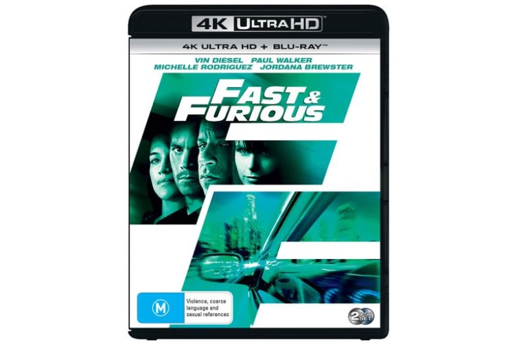 Fast & Furious 4K Ultra HD Blu-ray Digital Download UHD Region B