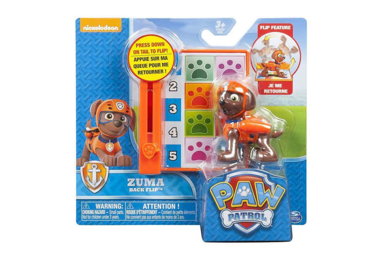 Paw Patrol Action Pack Pup and Badge - Backflip Zuma