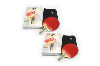 2x DHS 6006 6 Star Table Tennis Bat Racket Short Handle Ping Pong Paddle Penhold