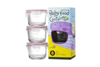 Glasslock Baby Food Container Set 3pc Round 165ml