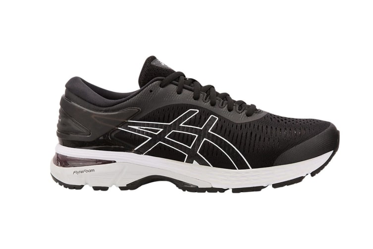 ASICS Women's  Gel-Kayano 25 Running Shoe (Black/Glacier Grey, Size 6)
