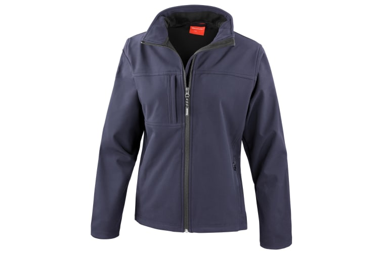 Result Womens Softshell Premium 3 Layer Performance Jacket (Waterproof  Windproof & Breathable) (Navy Blue) (S)
