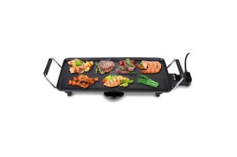 KitchenPro 2000W 47cm Electric BBQ Grill/Teppanyaki/Non-stick Surface Hot Plate