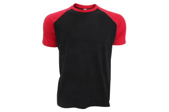 SOLS Mens Funky Contrast Short Sleeve T-Shirt (Black/Red) (L)