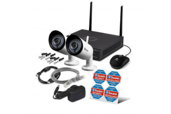 Swann NVW-485 4CH Wi-Fi HD CCTV 1TB DVR Recorder Day/Night 2x Security IP Camera