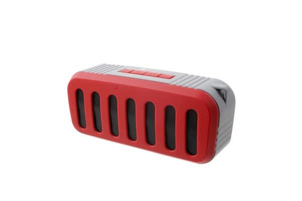 Bluetooth V2.1 +Edr Mini Stereo Speaker Wireless Rechargeable Usb Tf Fm Red