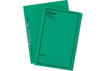 AVERY SPIRAL SPRING ACTION FILE FOOLSCAP GREEN