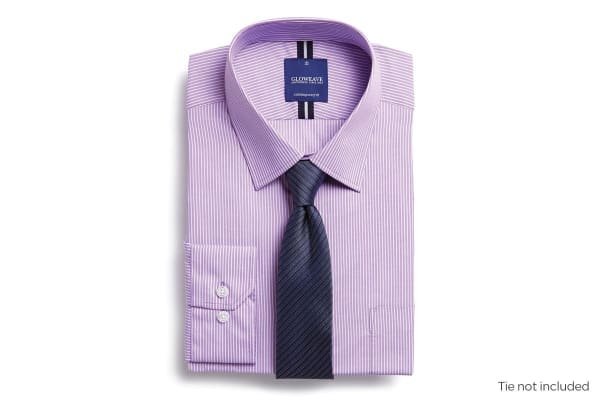 Gloweave Men's Contemporary Fit Business Shirt - Lilac (Size 40)