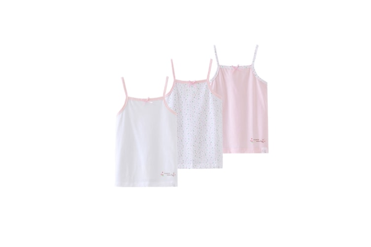 3Pcs Baby Toddler Girls' Set Of 3 Halter Tops Tanks - 1 Pink 130Cm