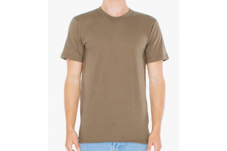 American Apparel Mens Fine Jersey Tee (Army) (3XL)