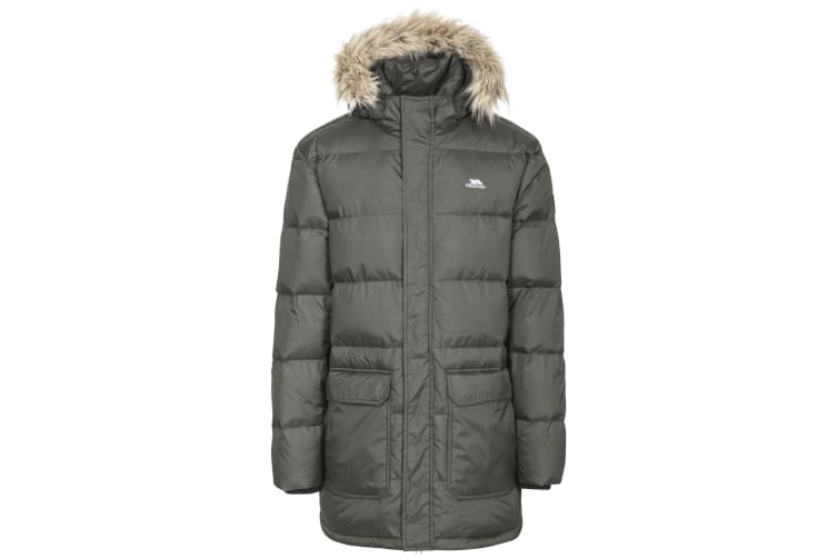 Trespass Mens Baird Padded Down Jacket (Olive) (M)