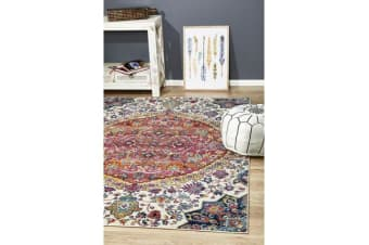 Hazel Rust & Multi Durable Kaleidoscope Rug