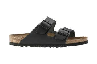 Birkenstock Arizona Natural Leather Sandal (Black, Size 43 EU)