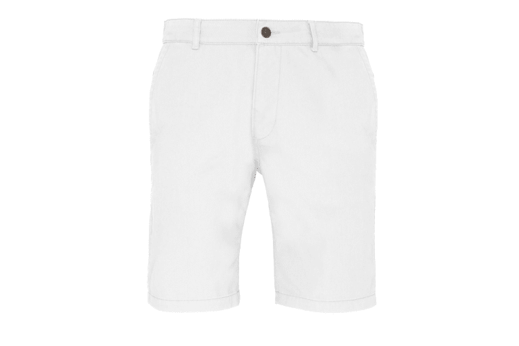 Asquith & Fox Mens Casual Chino Shorts (White) (3XL)
