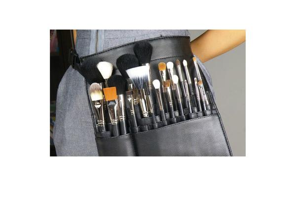 TODO 7 Piece Professional Makeup Brush Set + Carry Case Bag Leopard Print