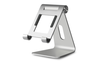 Aluminum Alloy Mobile Desktop Portable Tablet Bracket Of The Universal Lazy Multi-Functional Bedside Rotate 260 Degrees-SILVER
