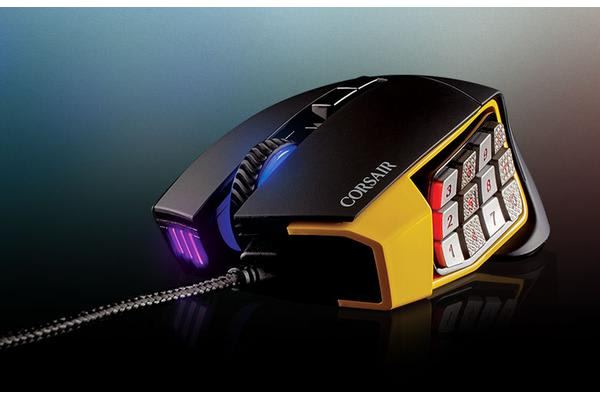 Corsair 'SCIMITAR' PRO RGB Optical MOBA/MMO Gaming Mouse - Black/Yellow