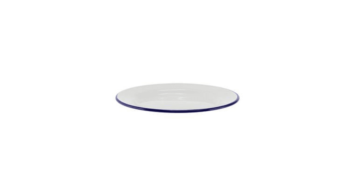 39cd18b9ec6 Falcon Enamel Side Plate 20cm White Blue Rim - Kogan.com