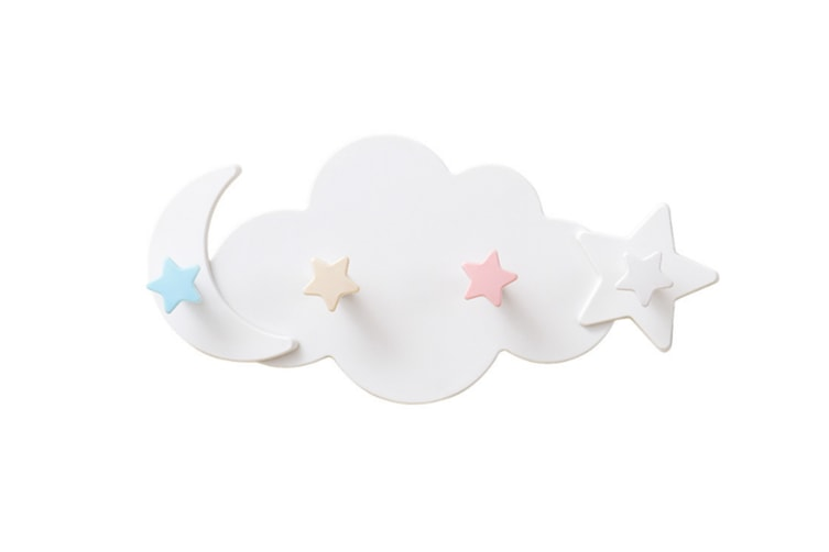 Cartoon Cloud Viscose Hook Wall Hanging Bathroom Traceless Strong Hook White
