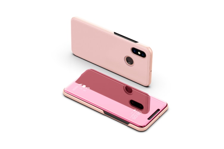 Mirror Case Translucent Flip Full Protection Mobile Phone Stand For Xiaomi Rose Gold Xiaomi5C