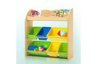 Artiss Kids Bookshelf Toy Storage Box Organizer Bookcase Children Display Rack