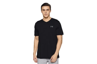 Under Armour Men's Tech V-Neck Tee (Black/Steel)