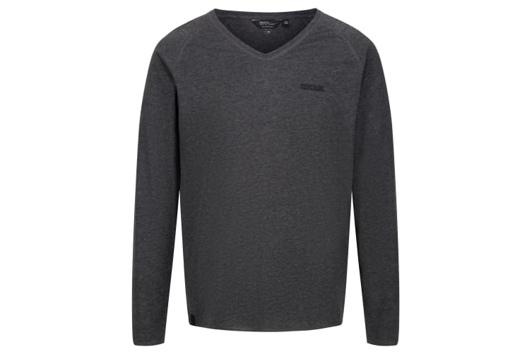Regatta Mens Long Sleeve T-Shirt (Black) (S)