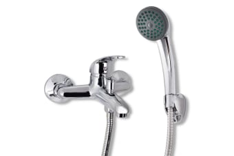 vidaXL Bath Shower Mixer Tap Kit Chrome