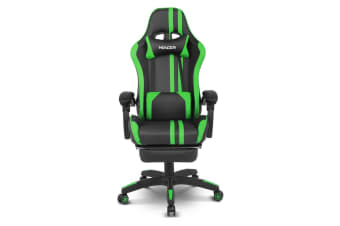 Home Office Computer Gaming Chair w/ Footrest and Tilt - Green/Black