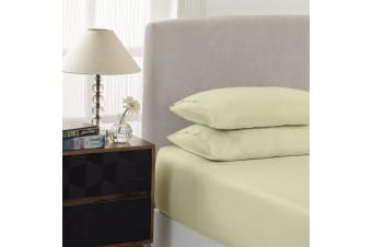 Royal Comfort 1500 Thread Count Combo Sheet Set Cotton Rich Premium Hotel Grade - Single - Ivory