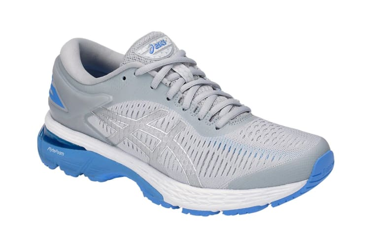 ASICS Women's  Gel-Kayano 25 Running Shoe (Mid Grey/Blue Coast, Size 8)