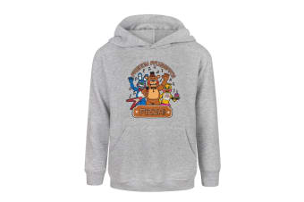 Five Nights At Freddys Childrens Boys Pizza Hoodie (Grey)