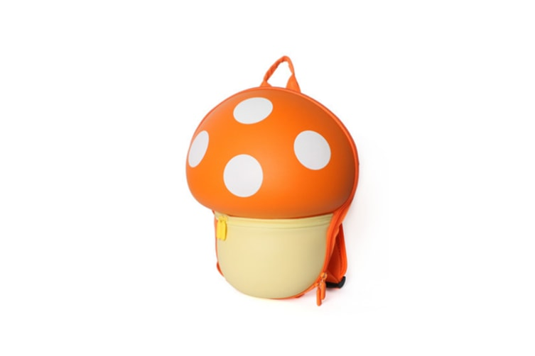 Cartoon Mushroom Backpack Children'S Shoulder Backpack - Orange Orange